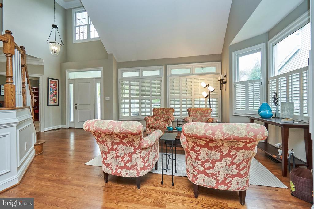 Formal Living Room with Plantation Shutters - 5809 MAGNOLIA LN, FALLS CHURCH