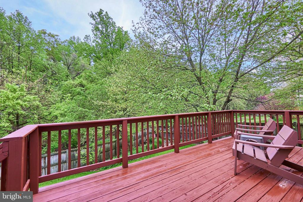 Rear Deck Newly Stained - 5809 MAGNOLIA LN, FALLS CHURCH