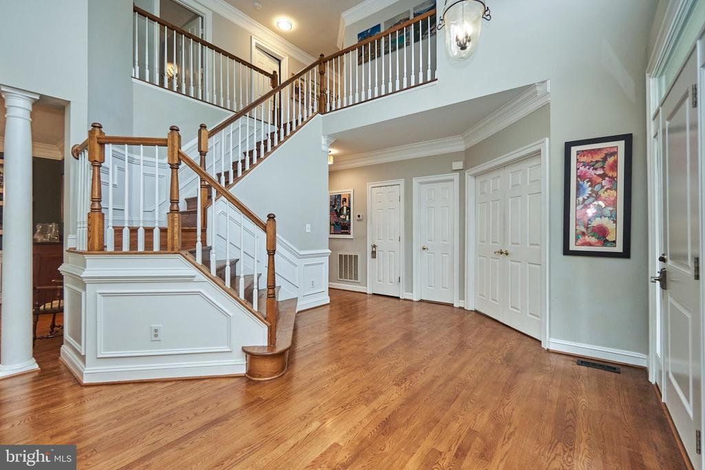 Wood Stairs to the Upper Level - 5809 MAGNOLIA LN, FALLS CHURCH