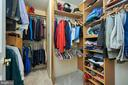 Master Walk-in Closet with Extensive Built-ins - 5809 MAGNOLIA LN, FALLS CHURCH