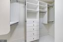 Walk in closet with built-ins - 4301 MILITARY RD NW #112, WASHINGTON