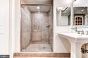Tiled shower - 4301 MILITARY RD NW #112, WASHINGTON