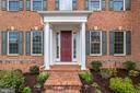 Professionally landscaped, welcoming front entry - 1381 BISHOP CREST CT, ALEXANDRIA