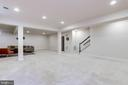 Enormous, fully finished lower level with walk-up - 1381 BISHOP CREST CT, ALEXANDRIA