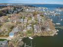 Aerial view of BackCreek going into Severn and Bay - 610 BURNSIDE ST, ANNAPOLIS