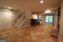 Lower level with walk out to patio & windows - 10651 OAKTON RIDGE CT, OAKTON