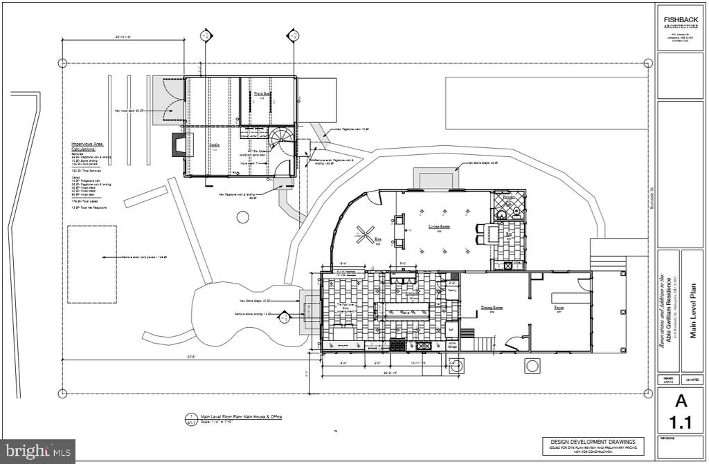 Architectural floorplans of renovation - 610 BURNSIDE ST, ANNAPOLIS