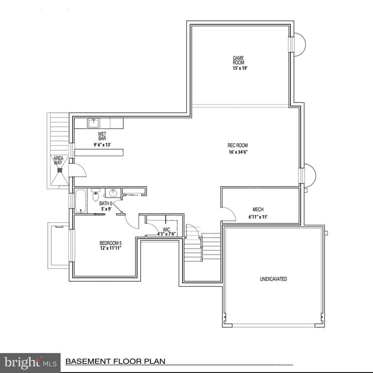 Basement Floorplan: legal bedroom, large res-room - 110 TAPAWINGO RD SW, VIENNA
