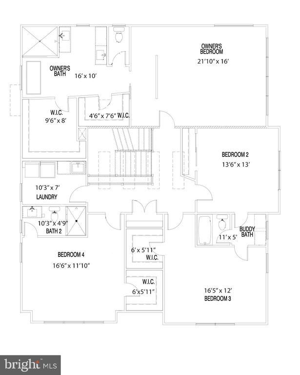 Second Level Floorplan - 114 TAPAWINGO RD SW, VIENNA