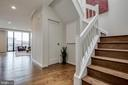 Foyer and Wood Staircase - 1300 CRYSTAL DR #PH14S, ARLINGTON