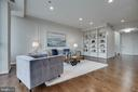 Living Room has Built-in Bookcase - 1300 CRYSTAL DR #PH14S, ARLINGTON