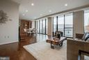 Living to Dining Room with Wall of Windows - 1300 CRYSTAL DR #PH14S, ARLINGTON