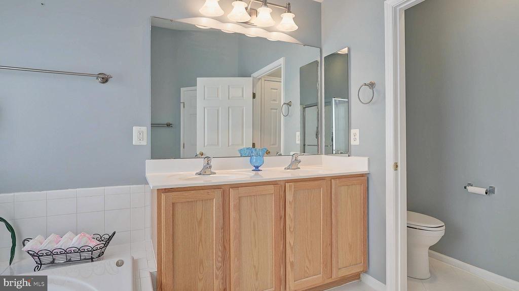 Master Bedroom Bath, double vanity, private toilet - 43262 LECROY CIR, LEESBURG
