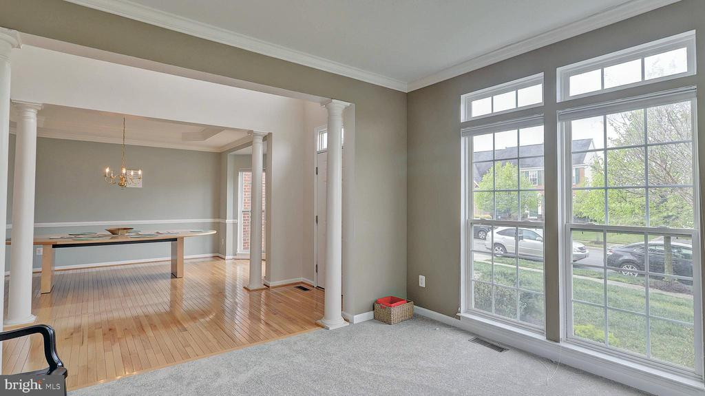 Living Room, light and bright, crown molding - 43262 LECROY CIR, LEESBURG