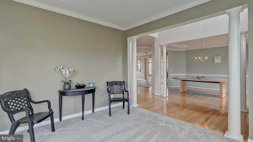 Living Room, decorative columns - 43262 LECROY CIR, LEESBURG