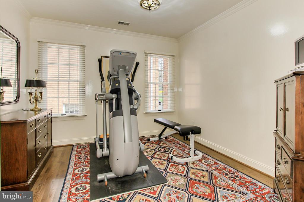 Bedroom 3 is Presently Used for Fitness & Laundry - 4125 PARKGLEN CT NW, WASHINGTON