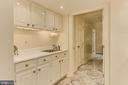 Lower Level Kitchenette with Cooktop - 4125 PARKGLEN CT NW, WASHINGTON