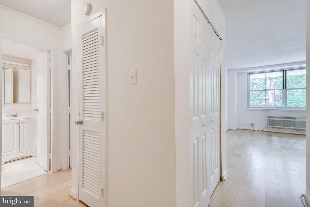 Entering the unit, bathroom and bedroom are left - 2030 N ADAMS ST #208, ARLINGTON