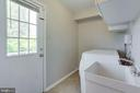 Laundry with side door and SINK! - 2106 ROBIN WAY CT, VIENNA