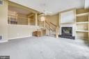 Soothing gas Fireplace w/ custom shelving. - 7016 CLINTON CT #22A, ANNAPOLIS