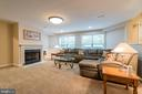 Lower level rec room - 20 WINDSONG WAY, STAFFORD