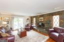 Family room-notice stone fireplace - 1020 MONROE ST, HERNDON