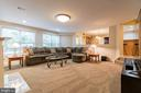 Spacious lower level rec room - 20 WINDSONG WAY, STAFFORD