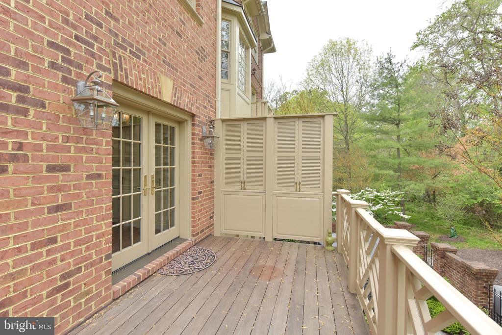 Private Deck off Family Room with stairs to Patio - 3823 N RANDOLPH CT, ARLINGTON