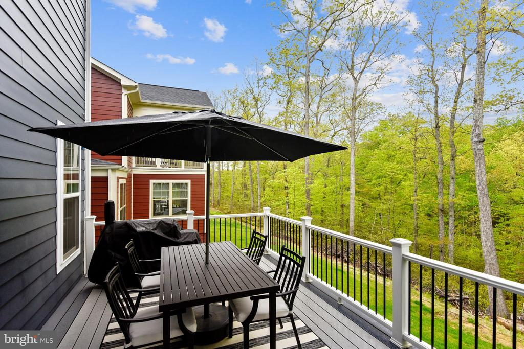 Grill out on the deck relax to sounds of nature! - 17966 WOODS VIEW DR, DUMFRIES