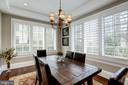plantation shutters grace breakfast room windows - 6537 36TH ST N, ARLINGTON