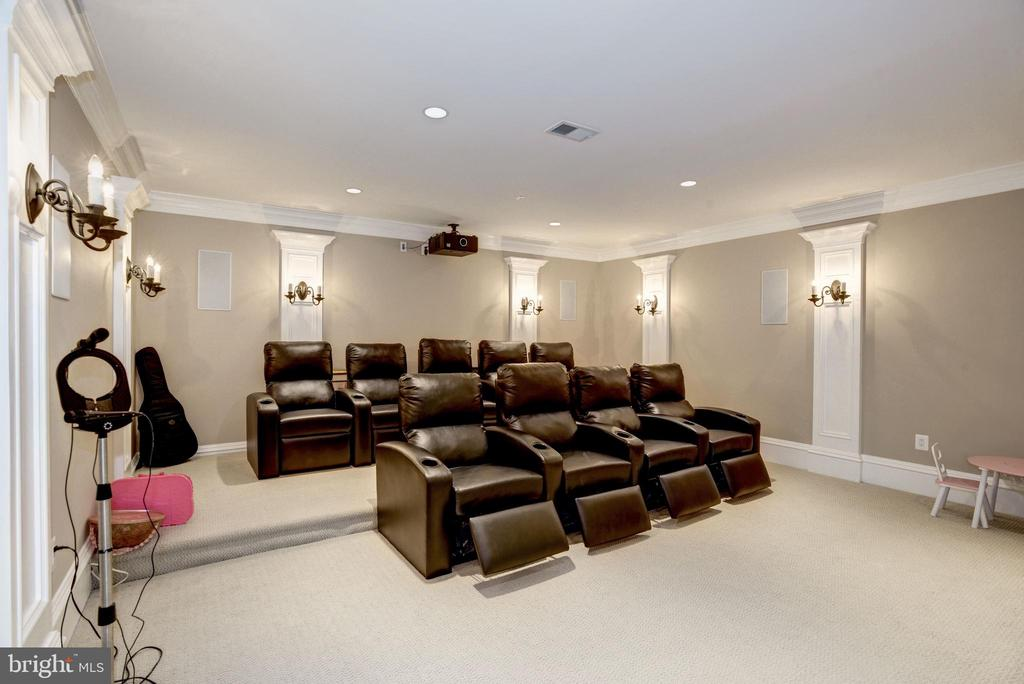2 rows of recliners convey with all AV equipment - 6537 36TH ST N, ARLINGTON