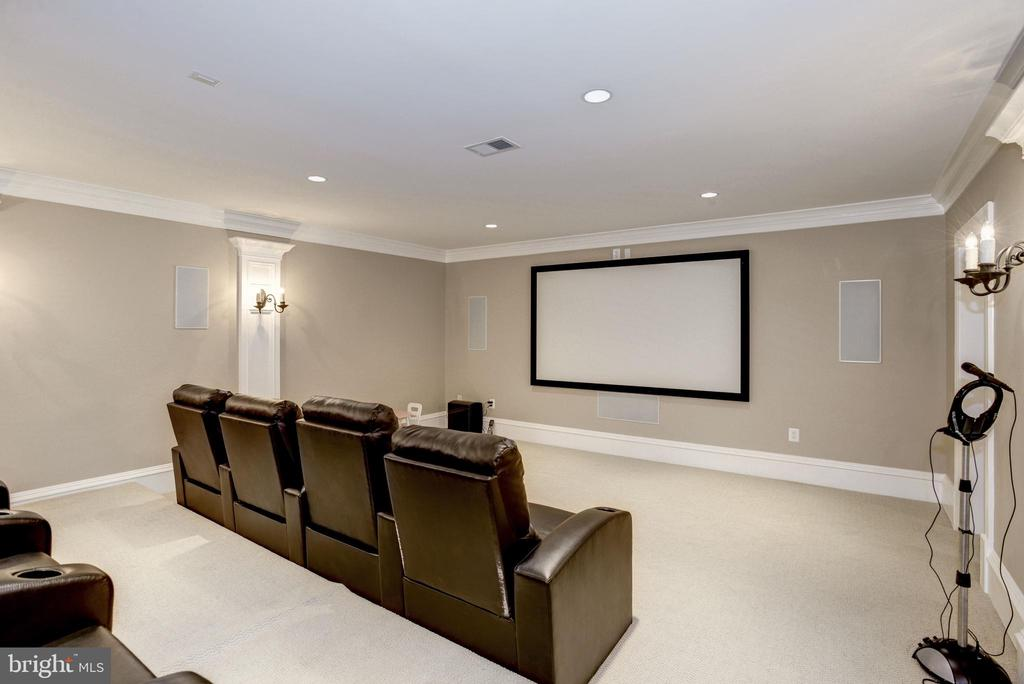 fully equipped theater room with recessed lighting - 6537 36TH ST N, ARLINGTON