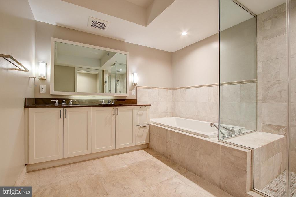 Master Bath w/ His and Her Sinks - 4901 HAMPDEN LN #306, BETHESDA