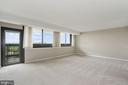 Living room balcony access - 5501 SEMINARY RD #611S, FALLS CHURCH