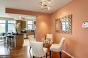 Dining area. - 1021 N GARFIELD ST #409, ARLINGTON