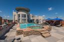 Rooftop pool w/ spa - 1021 N GARFIELD ST #409, ARLINGTON