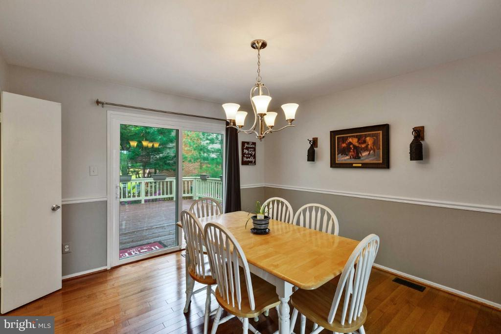 Dining Room w/ Hardwood Floors - 6505 CRAYFORD ST, BURKE