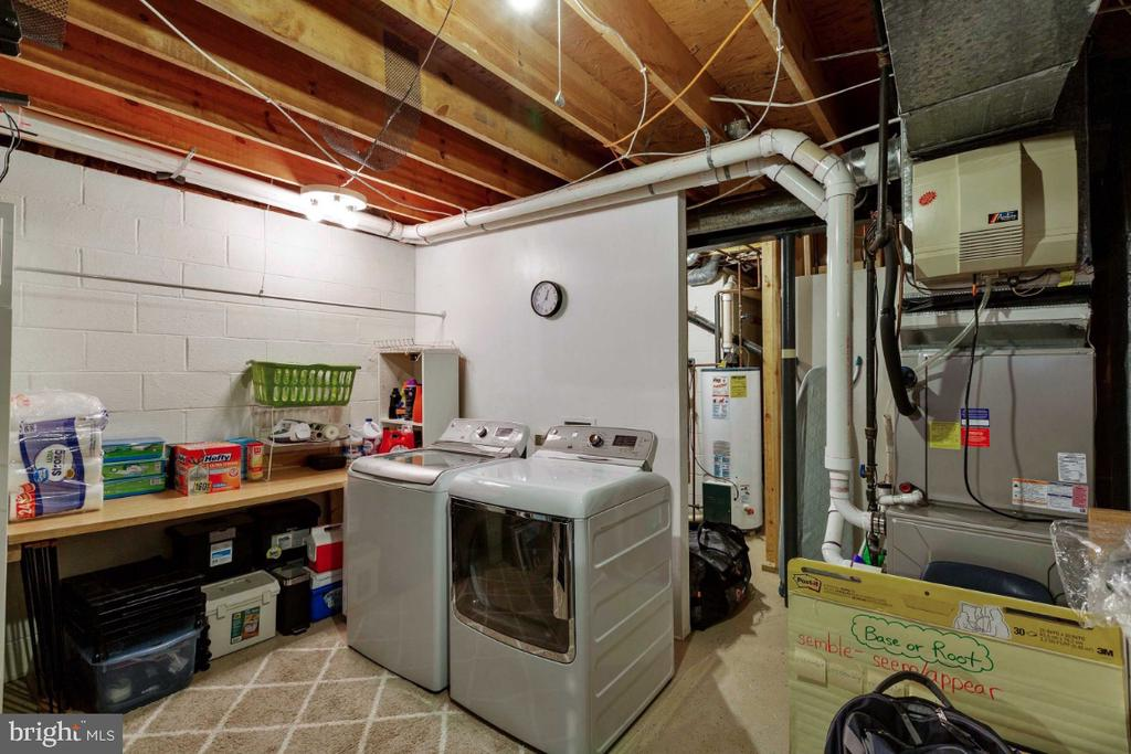 Huge Storage Area & Laundry Room - 6505 CRAYFORD ST, BURKE