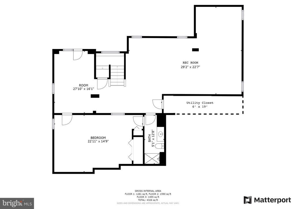 Basement floorplan - 43262 LECROY CIR, LEESBURG