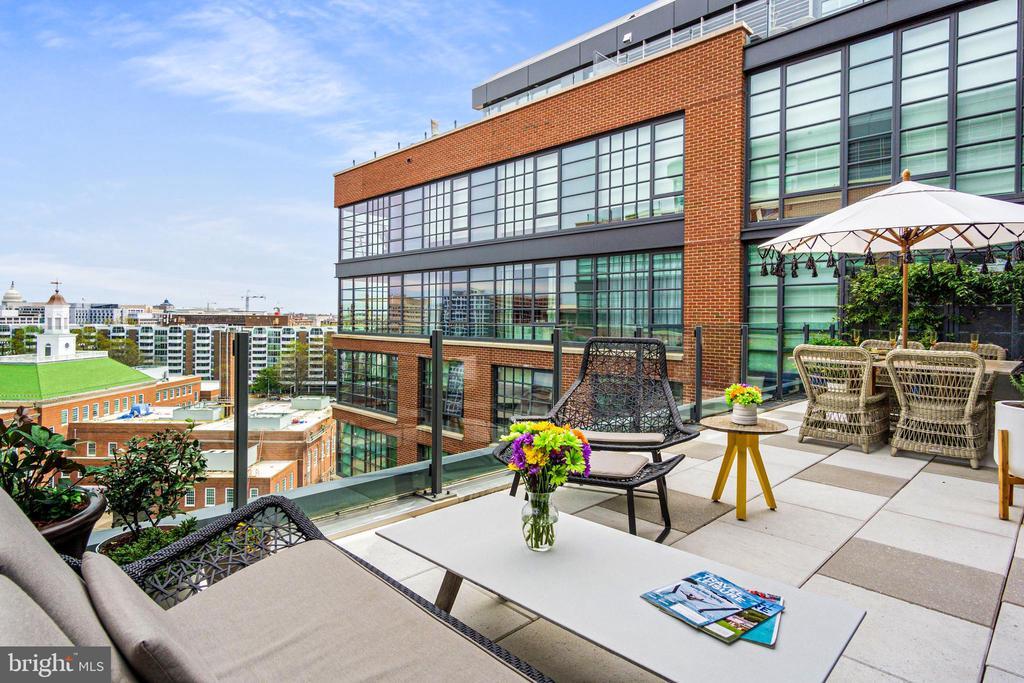 275 square feet of private terrace - 45 SUTTON SQ SW #1116, WASHINGTON