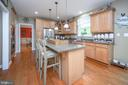 Large island with cook top - 14616 JUNCTION CT, FREDERICKSBURG