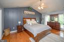 Master Bedroom with custom Baten Board wall - 14616 JUNCTION CT, FREDERICKSBURG