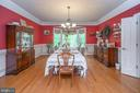 Welcome to your formal dining room - 14616 JUNCTION CT, FREDERICKSBURG