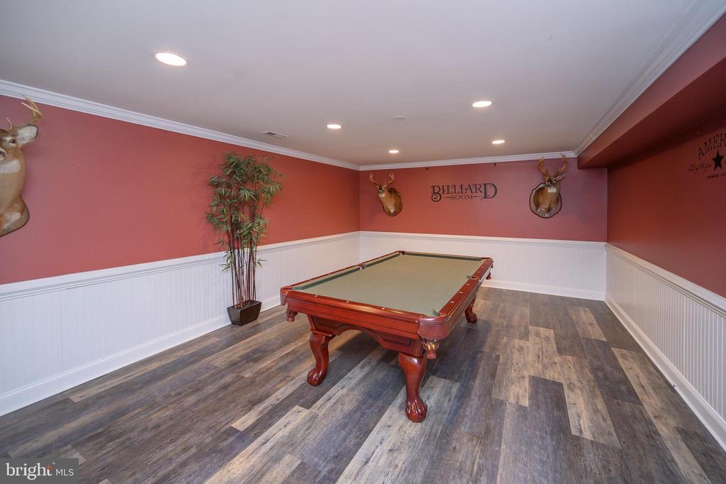 Game room with pool table - 14616 JUNCTION CT, FREDERICKSBURG