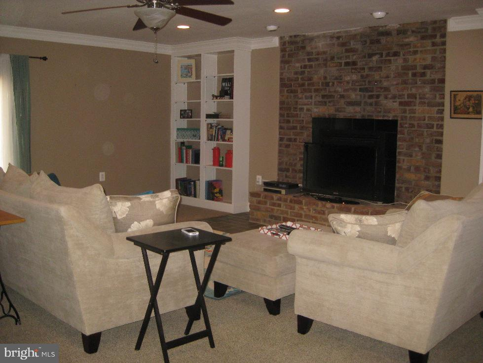 In Law Suite Propane Gas Fireplace w/ Brick - 2714 JAY BIRD CT, KNOXVILLE