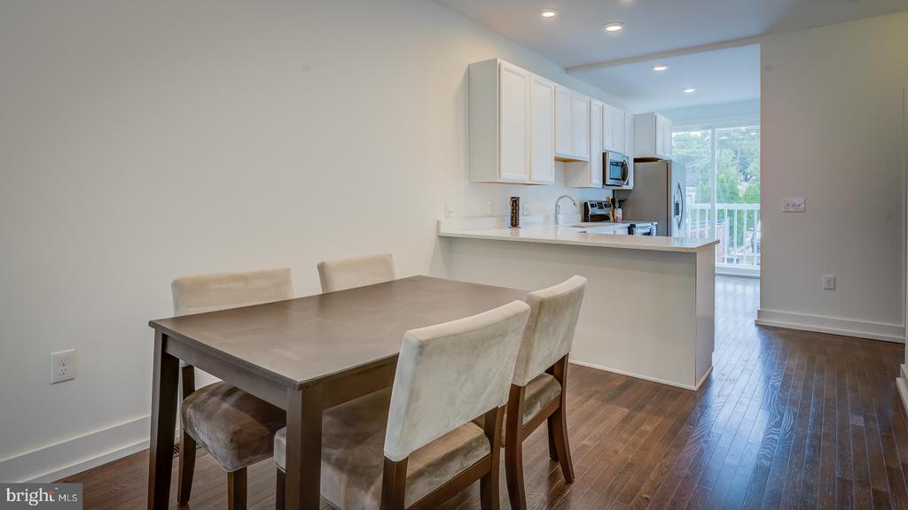 Dining Room/Kitchen Combo - 4314 14TH ST NW #B, WASHINGTON