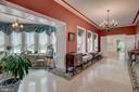 Gallery with Italian marble floor - 12600 JARRETTSVILLE PIKE, PHOENIX