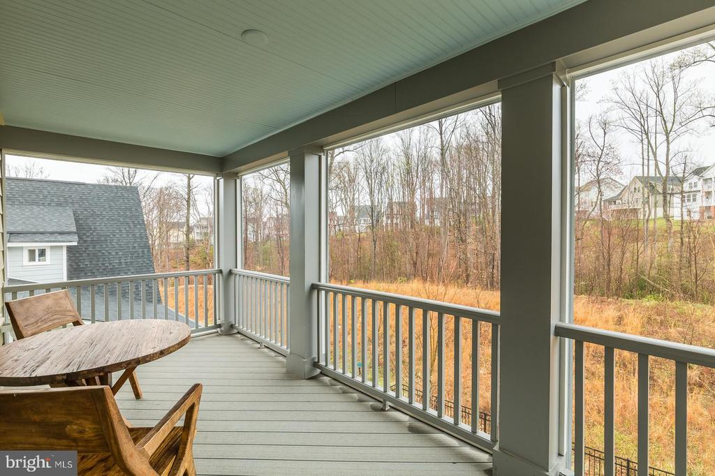 Screened porch off the owner's bedroom - 17109 GULLWING DR, DUMFRIES