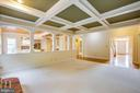 Family Room with Coffered Ceiling/Wood burning FP - 11903 POWDER MILL CT, SPOTSYLVANIA