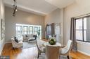 Bright, open floorplan featuring hardwood floor - 1827 FLORIDA AVE NW #401, WASHINGTON